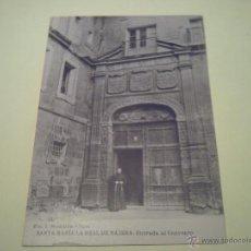 Postales: SANTA MARÍA LA REAL DE NÁJENA:ENTRADA AL CONVENTO - FOT. J. MONTALVO Y SANZ - HAUSER Y MENET. Lote 40281166