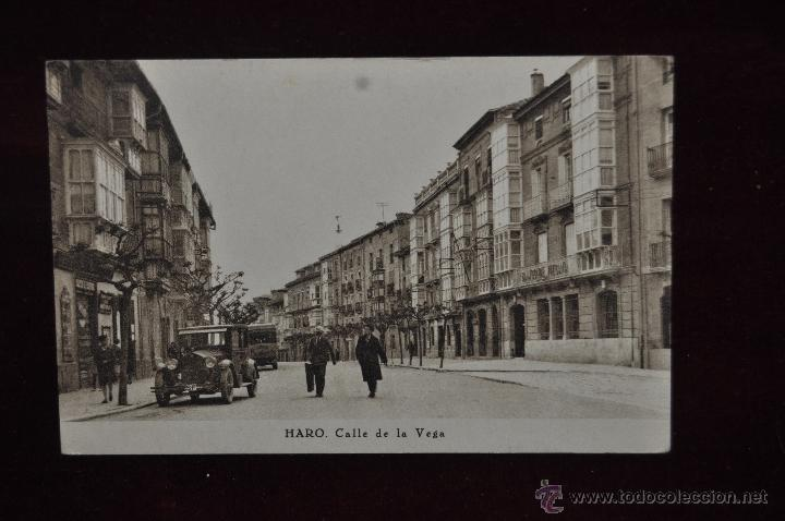 ANTIGUA POSTAL DE HARO. CALLE DE LA VEGA. CIRCULADA. (Postales - España - La Rioja Antigua (hasta 1939))