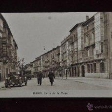 Postales: ANTIGUA POSTAL DE HARO. CALLE DE LA VEGA. CIRCULADA.. Lote 40999791