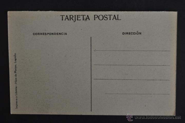Postales: ANTIGUA POSTAL LOGROÑO. LA RIOJA. PASEO DEL PRINCIPE DE VERGARA Y MURO DE SAN FRANCISCO DE LA MATA - Foto 2 - 41256291