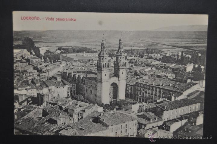 ANTIGUA POSTAL DE LOGROÑO. LA RIOJA. VISTA PANORAMICA. SIN CIRCULAR (Postales - España - La Rioja Antigua (hasta 1939))
