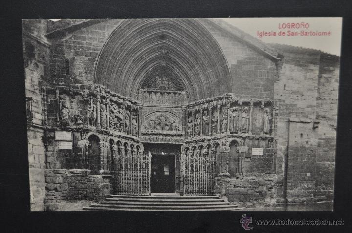 ANTIGUA POSTAL DE LOGROÑO. LA RIOJA. IGLESIA DE SAN BARTOLOME. SIN CIRCULAR (Postales - España - La Rioja Antigua (hasta 1939))