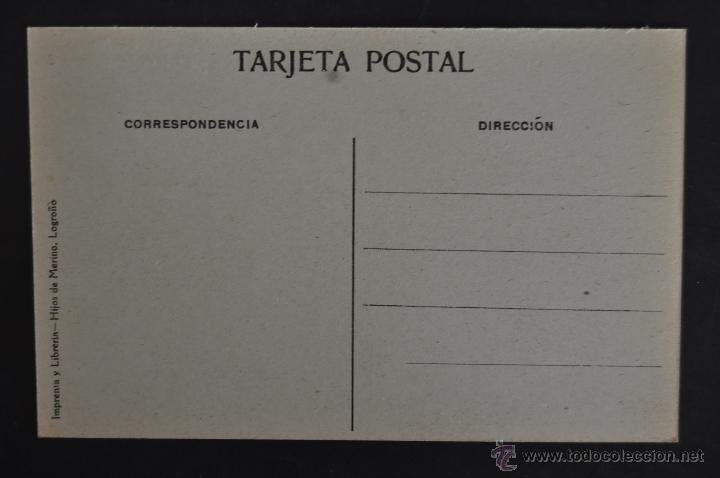 Postales: ANTIGUA POSTAL DE LOGROÑO. LA RIOJA. IGLESIA DE SAN BARTOLOME. SIN CIRCULAR - Foto 2 - 41256996
