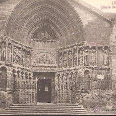 Postales: POSTAL LOGROÑO IGLESIA DE SAN BARTOLOME EDITA IMPRENTA HIJOS DE MERINO. Lote 41316339