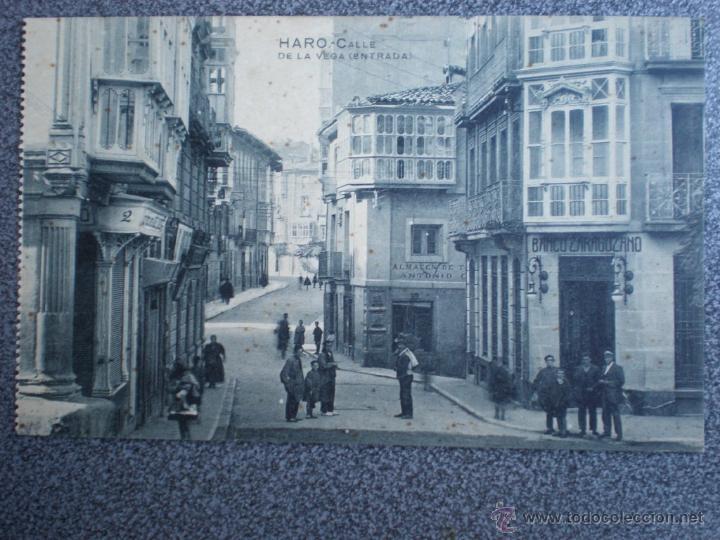 HARO LA RIOJA CALLE DE LA VEGA POSTAL ANTIGUA (Postales - España - La Rioja Antigua (hasta 1939))