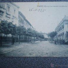 Postales: HARO LA RIOJA CALLE DEL BANCO DE ESPAÑA POSTAL ANTIGUA. Lote 43030397