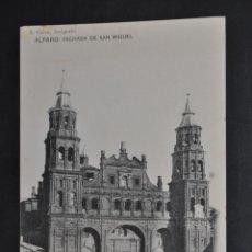 Postales: ANTIGUA POSTAL DE ALFARO. LA RIOJA. FACHADA DE SAN MIGUEL. HAUSER Y MENET. SIN CIRCULAR. Lote 43324802