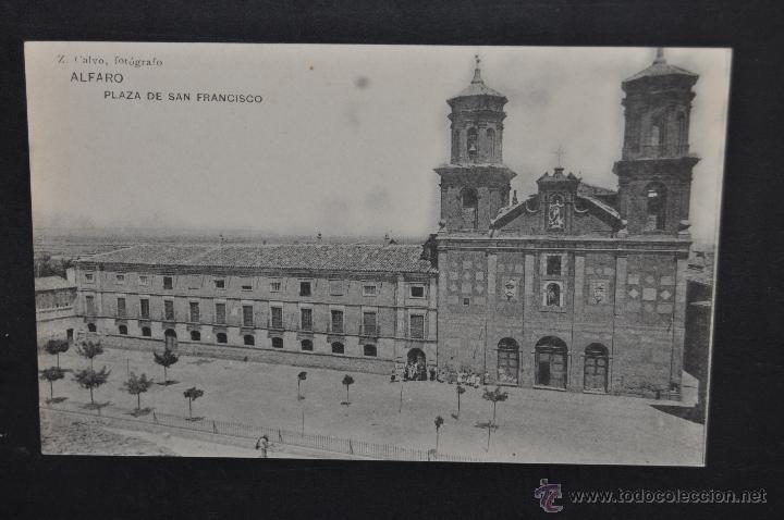 ANTIGUA POSTAL DE ALFARO. LA RIOJA. PLAZA DE SAN FRANCISCO. HAUSER Y MENET. SIN CIRCULAR (Postales - España - La Rioja Antigua (hasta 1939))