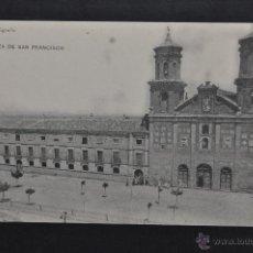 Postales: ANTIGUA POSTAL DE ALFARO. LA RIOJA. PLAZA DE SAN FRANCISCO. HAUSER Y MENET. SIN CIRCULAR. Lote 43324900