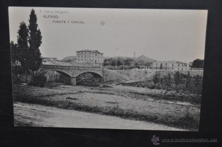 ANTIGUA POSTAL DE ALFARO. LA RIOJA. PUENTE Y CARCEL. HAUSER Y MENET. SIN CIRCULAR (Postales - España - La Rioja Antigua (hasta 1939))