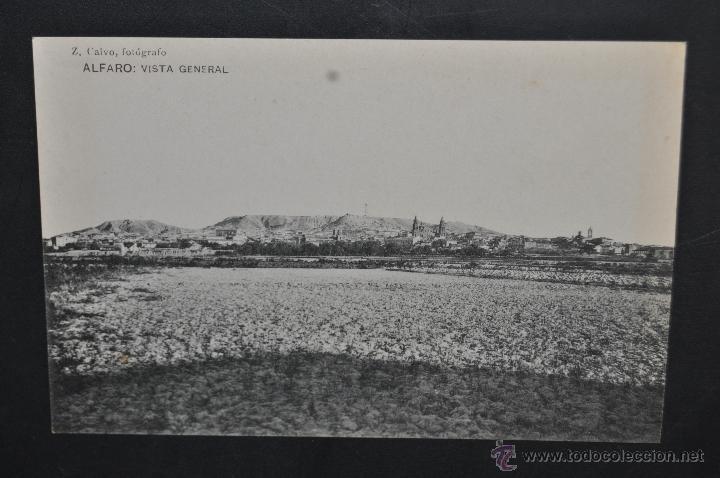 ANTIGUA POSTAL DE ALFARO. LA RIOJA. VISTA GENERAL. HAUSER Y MENET. SIN CIRCULAR (Postales - España - La Rioja Antigua (hasta 1939))