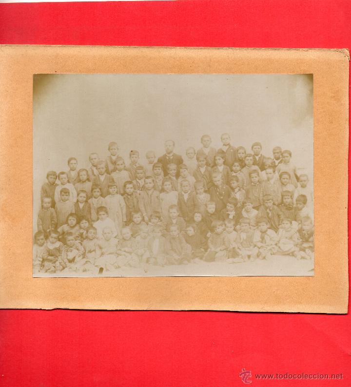 AUTOL. FOTO MAESTRO CON NIÑOS (Postales - España - La Rioja Antigua (hasta 1939))