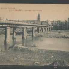 Postales: LOGROÑO - PUENTE DE HIERRO - P2412. Lote 45397857