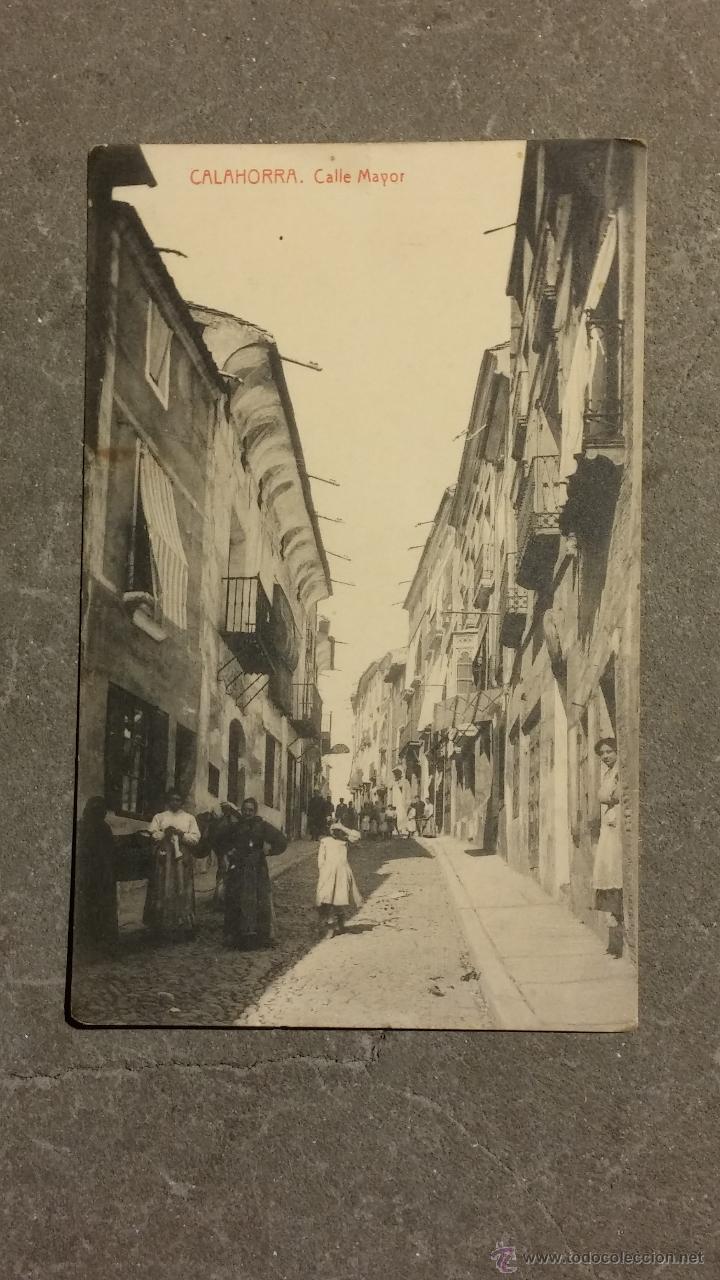 TARJETA POSTAL , CALAHORRA. CALLE MAYOR , ESCRITA . (Postales - España - La Rioja Antigua (hasta 1939))