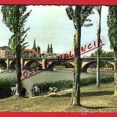 Cartoline: POSTAL, LOGROÑO, LA RIOJA, PUENTE DE PIEDRA SOBRE EL EBRO, P97352. Lote 46987486