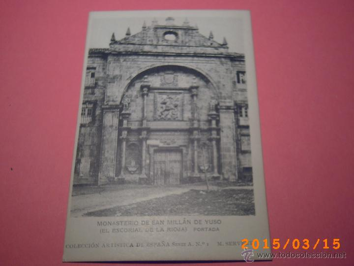 MONASTERIO SAN MILLÁN DE YUSO-ESCORIAL DE LA RIOJA- PORTADA-COLEC. ART. ESP. SERIE A Nº 9 (Postales - España - La Rioja Antigua (hasta 1939))