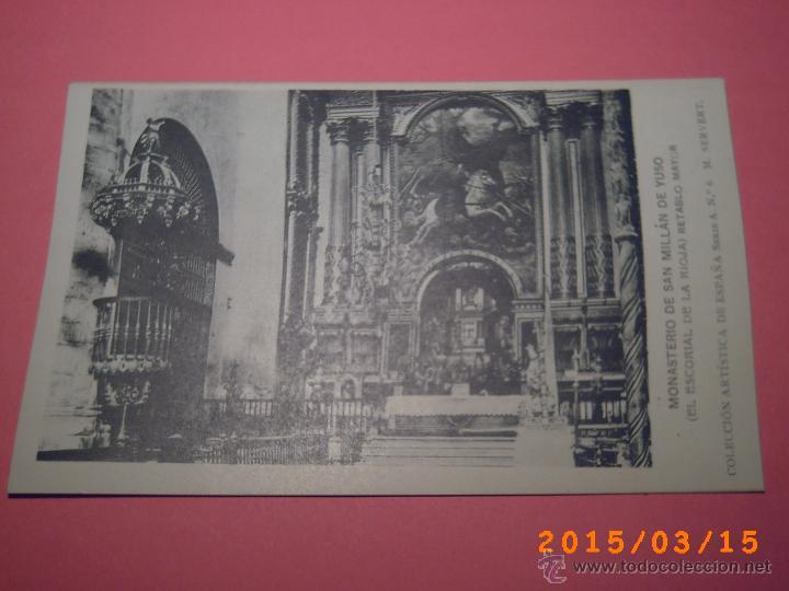MONASTERIO SAN MILLÁN DE YUSO-ESCORIAL DE LA RIOJA- RETABLO MAYOR -COLEC. ART. ESP. SERIE A Nº 6 (Postales - España - La Rioja Antigua (hasta 1939))