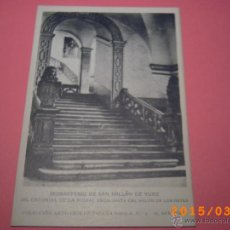 Postales: MONASTERIO SAN MILLÁN DE YUSO-ESCORIAL DE LA RIOJA-ESCALINATA SALÓN REYES-COLEC.ART.ESP.SERIE A Nº 3. Lote 48433644