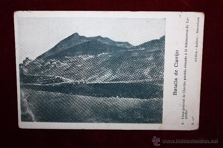 ANTIGUA POSTAL DE LA BATALLA DE CLAVIJO. LA RIOJA. VISTA GENERAL. ED. ACHA. SIN CIRCULAR (Postales - España - La Rioja Antigua (hasta 1939))