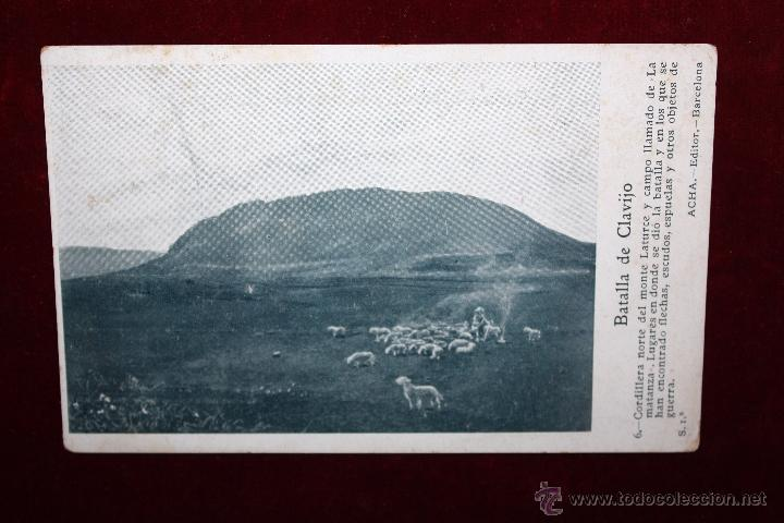 ANTIGUA POSTAL DE LA BATALLA DE CLAVIJO. LA RIOJA. MONTE LATURCE Y CAMPO LLAMADO LA MATANZA (Postales - España - La Rioja Antigua (hasta 1939))