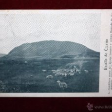 Postales: ANTIGUA POSTAL DE LA BATALLA DE CLAVIJO. LA RIOJA. MONTE LATURCE Y CAMPO LLAMADO LA MATANZA. Lote 49316626