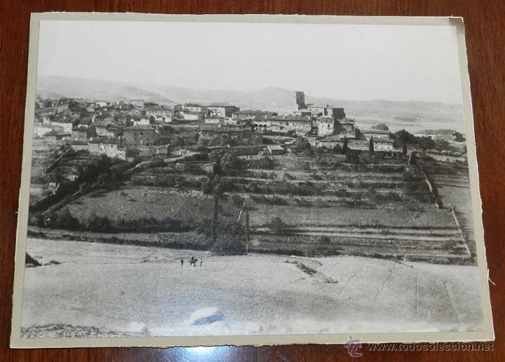 ANTIGUA FOTOGRAFIA DE SOTES (LA RIOJA) VISTA GENERAL, MIDE 24,5 X 18,5 CMS. 100% ORIGINAL (Postales - España - La Rioja Antigua (hasta 1939))