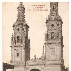 Postales: LOGROÑO. TORRES DE REDONDA. ED.LIBRERIA MODERNA.ESCRITA Y CON SELLO. 1916. - VELL I BELL. Lote 52849436