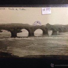 Postales: LOGROÑO - PUENTE DE PIEDRA - FOTOGRAFICA SELLO EN SECO ROISIN - (38999). Lote 52968959