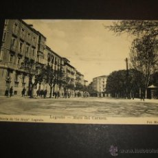 Postales: LOGROÑO MURO DEL CARMEN LIBRERIA DE LA RIOJA 1910. Lote 54065020