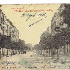 Postales: PS6609 LOGROÑO 'CALLE DEL GENERAL VARA DE REY'. THOMAS. CIRCULADA. 1921. Lote 55951416