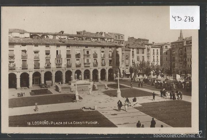 LOGROÑO - 18 - PLAZA DE LA CONSTITUCION - FOTOGRAFICA - (43.278) (Postales - España - La Rioja Antigua (hasta 1939))