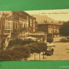 Postales: HARO (LA RIOJA) LOGROÑO CALLE DEL BANCO DE ESPAÑA Nº17 FRANQUEADA. Lote 58119764