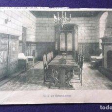 Postales: POSTAL DE LOGROÑO. REGIMIENTO ARTILLERIA DE MONTAÑA N°24. SALA DE ESTANDARTES. AÑOS 40. Lote 62208956