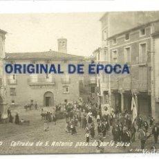 Postales: (PS-50589)POSTAL FOTOGRAFICA DE ARNEDO-COFRADIA DE S.ANTONIO PASANDO POR LA PLAZA. Lote 69627141