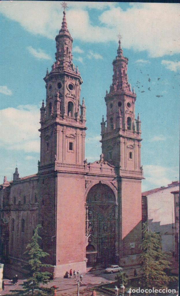 POSTAL LOGROÑO - TORRES GEMELAS DE LA CATEDRAL - 1 FOTOCOLOR - CIRCULADA (Postales - España - La Rioja Antigua (hasta 1939))