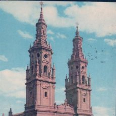 Postais: POSTAL LOGROÑO - TORRES GEMELAS DE LA CATEDRAL - 1 FOTOCOLOR - CIRCULADA. Lote 71642491