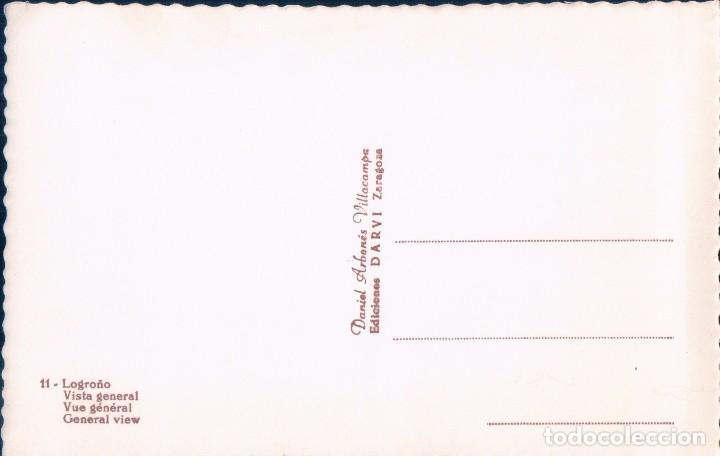 Postales: POSTAL LOGROÑO - VISTA GENERAL - 11 DARVI - PUENTE - CARRRO - RIO - Foto 2 - 75036579