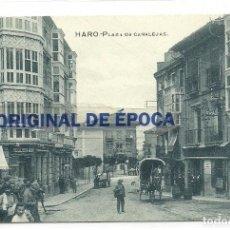 Postales: (PS-51141)POSTAL DE HARO-PLAZA DE CANALEJAS. Lote 76346035