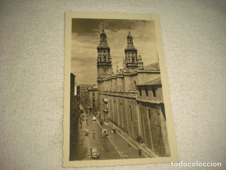 LOGROÑO . IGLESIA DE LA REDONDA Y CALLE DE MOLA . ED. ARRIBAS, SIN CIRCULAR (Postales - España - La Rioja Antigua (hasta 1939))