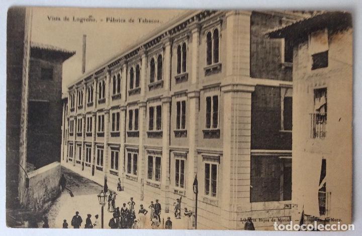 POSTAL. LIBRERÍA MERINO. FÁBRICA DE TABACOS. LOGROÑO. LA RIOJA. (Postales - España - La Rioja Antigua (hasta 1939))