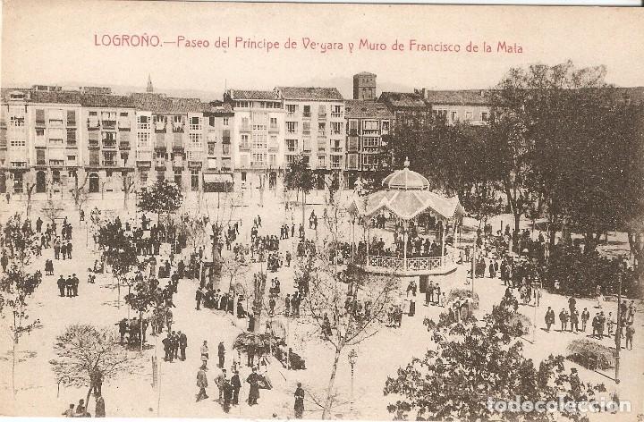 LOGROÑO -PASEO P. DE VERGARA Y MURO.....SIN CIRCULAR (Postales - España - La Rioja Antigua (hasta 1939))