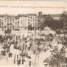 Postales: LOGROÑO -PASEO P. DE VERGARA Y MURO.....SIN CIRCULAR. Lote 86409204