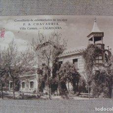 Postales: CALAHORRA. CONSULTORIO ENFERMEDADES OJOS F.A. CHAVARRIA. VILLA CARMEN. ESCRITA EN 1931/2. Lote 90750445