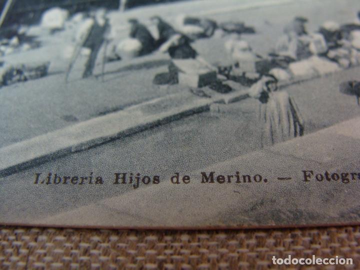 Postales: LOGROÑO PUENTE DE PIEDRA Y LAVADEROS. LIBRERÍA HIJOS DE MERINO. FOT. MURO. SIN CIRCULAR - Foto 2 - 90750715