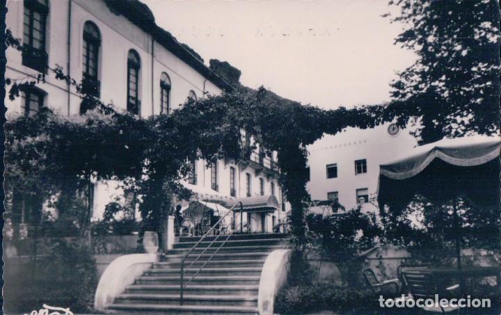 POSTAL LA RIOJA - BALNEARIO DE ARNEDILLO 20 - TERRAZAS - MARTINEZ DE PINILLOS - CIRCULADA (Postales - España - La Rioja Antigua (hasta 1939))