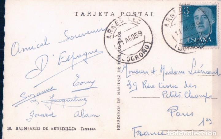 Postales: POSTAL LA RIOJA - BALNEARIO DE ARNEDILLO 20 - TERRAZAS - MARTINEZ DE PINILLOS - CIRCULADA - Foto 2 - 95185771