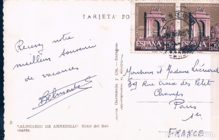 Postales: POSTAL LA RIOJA - BALNEARIO DE ARNEDILLO 3 - HOTEL DEL BALNEARIO - GARRABELLA - CIRCULADA - Foto 2 - 95186075