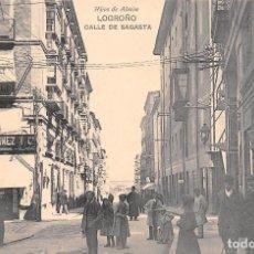 Postales: LOGROÑO.- CALLE DE SAGASTA. Lote 95669539