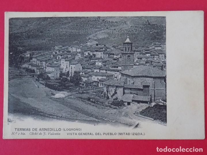 POSTAL TERMAS DE ARNEDILLO (LOGROÑO) Nº 1BIS, VISTA GENERAL DEL PUEBLO (MITAD IZQUIERDA).. R-6987 (Postales - España - La Rioja Antigua (hasta 1939))