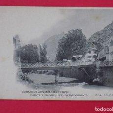 Postales: ANTIGUA POSTAL TERMAS DE ARNEDILLO (LOGROÑO) Nº 5, PUENTE Y EDIFICIOS DEL ESTABLECIMIENTO... R-6990. Lote 96144655